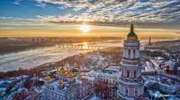 Sunset in Kiew, Ukraine